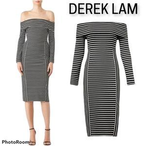 Derek Lam 10 Crosby striped midi dress Trendy